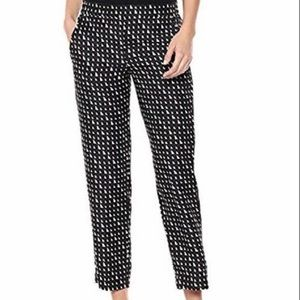 Theory Pull On Triangle Silk Trouser Sz.6 NWT